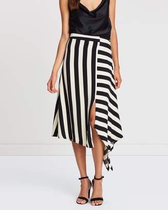Atmos & Here Kristen Stripe Skirt