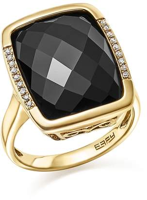 Bloomingdale's Onyx and Diamond Pave Statement Ring in 14K Yellow Gold - 100% Exclusive