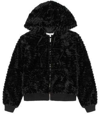 Clu Black Faux Fur Jacket