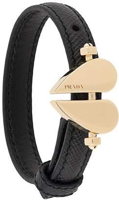 Prada bolted heart bracelet