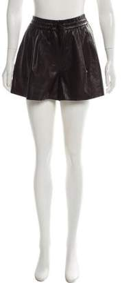 3.1 Phillip Lim Leather High-Rise Shorts