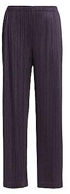 Pleats Please Issey Miyake Women's Monthly Colors August Wide-Leg Pants