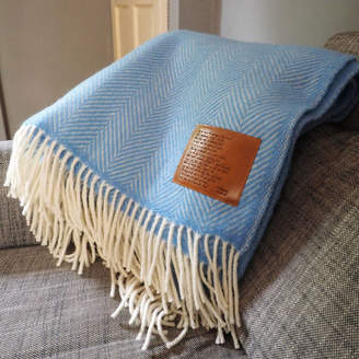 Stabo Personalised Wool Throw Engraved With Sonnet 116