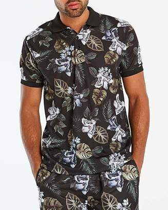 Jacamo Floral Printed Polo Regular