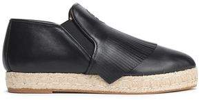 Tory Burch Fringed Leather Espadrilles