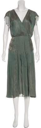 Veronica Beard V-Neck Midi Dress