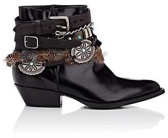 Philosophy di Lorenzo Serafini Women's Leather Buckle Ankle Boots