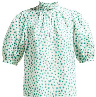 04ae90876c05a Rebecca Taylor Floral Print Cotton Blouse - Womens - Green Multi