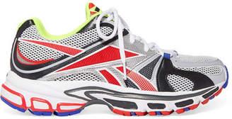 Vetements Reebok Runner 200 Rubber-trimmed Mesh Sneakers - Gray