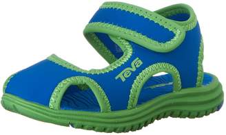 Teva Tidepool Closed Toe Hard Sole Sandal, Blue/Green