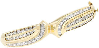 One Kings Lane Vintage 14k Yellow Gold 2.50ctw Diamond Bangle