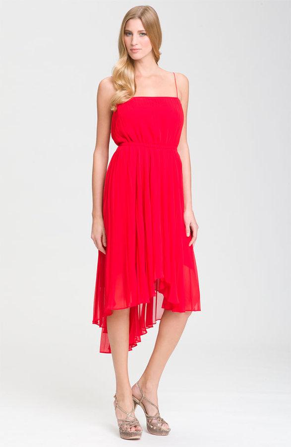 Suzi Chin for Maggy Boutique Spaghetti Strap Asymmetrical Dress