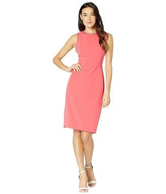 5f8589385db47a Calvin Klein Solid Sheath Dress with Flower Detail