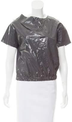 Chloé Short Sleeve Silk Top