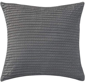 "Waterford Pintucked Blossom Pewter Pillow, 16""Sq."