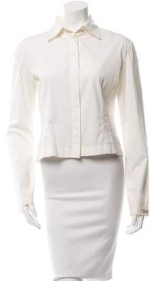 Chanel Embellished Button-Up Top
