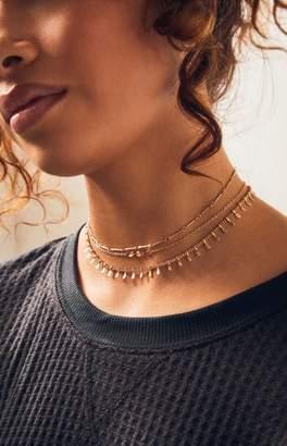 LA Hearts Fringe & Chain Layered Necklace
