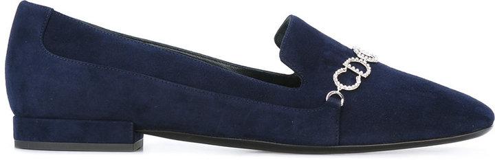 Christian Dior Dior logo plaque slippers