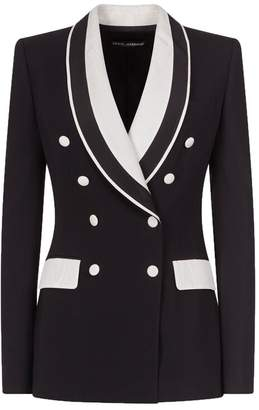 Dolce & Gabbana Double-breasted Contrast Blazer