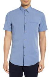 Calibrate Dobby Dot Short Sleeve Cotton Shirt