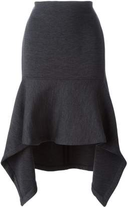 Marni asymmetric flared midi skirt