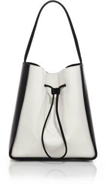 3.1 Phillip LimSoleil Large Two-Tone Leather Drawstring Bucket Bag