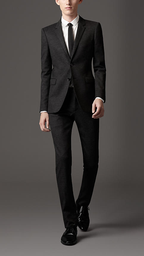 Slim Fit Virgin Wool Blend Suit