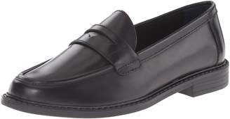 Cole Haan Women's Pinch Campus Penny Loafers, Black/Ivory Leather, 8.5 M US