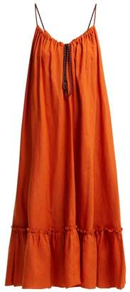 Three Graces London Agatha Linen Dress - Womens - Orange