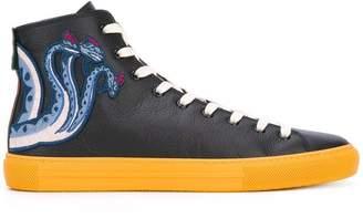 Gucci appliqué hi-top sneakers