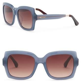 Toms 52mm Mackenzie Denim Blue Sunglasses
