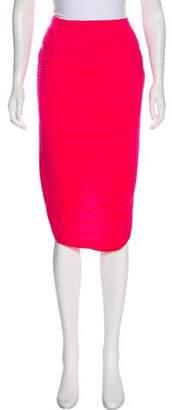 Lanvin Plissé Knee-Length Skirt