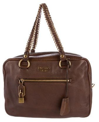 prada Prada Cervo Chain-Link Shoulder Bag