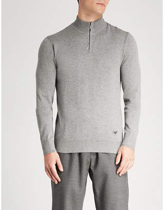 Emporio Armani Zipped knitted jumper
