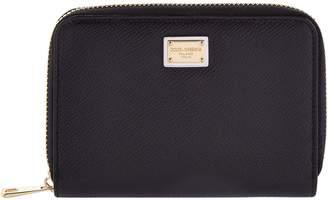 Dolce & Gabbana Leather Zip-Around Wallet (Small)