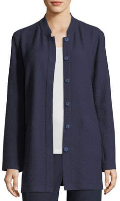 Eileen Fisher Textural Cotton Stretch Jacket, Plus Size