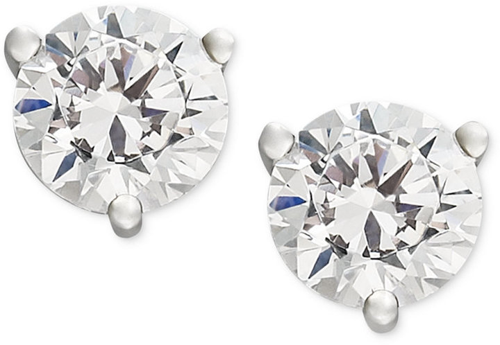 Near Colorless Certified Diamond Stud Earrings in 18k White or Yellow Gold (1 ct. t.w.)