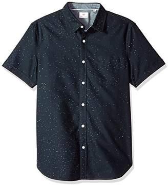AG Adriano Goldschmied Men's Pearson Short Sleeve Print Button Down Shirt