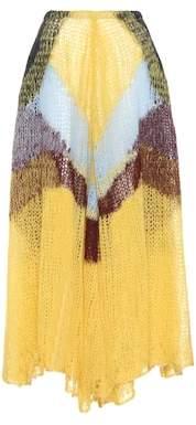 Mohair-blend skirt