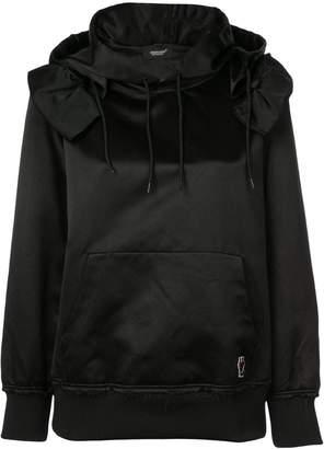 Undercover ruffle detail hoodie