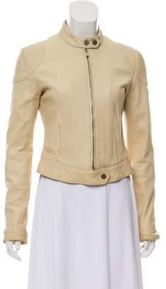Armani Collezioni Zip-Up Leather Jacket