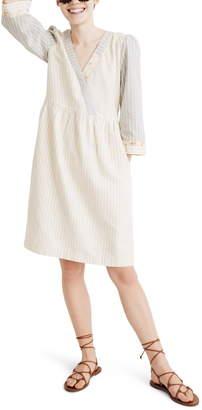 de813097ae Madewell x The New Denim Project(R) Stripe Mix Long Sleeve Dress