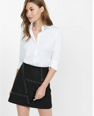 Express straight fit full button essential shirt $59.90 thestylecure.com
