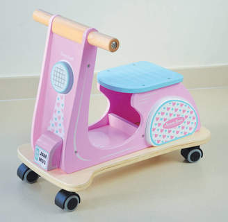 Jammtoys wooden toys Ride On Retro Scooter Pink Racer