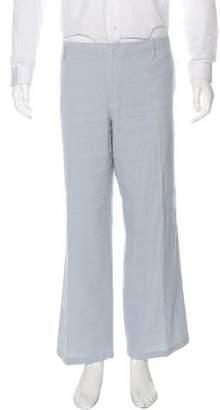 Burberry Linen-Blend Flat Front Pants