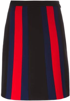Gucci vertical stripe A-line skirt