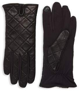 Lord & Taylor Quilted Tech Gloves
