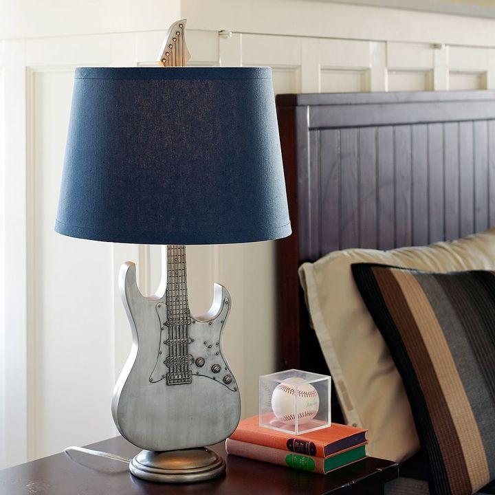 Music Guitar Lamp Base + Classic Shade