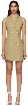 Balmain Beige Double-Breasted Buttoned Mini Dress