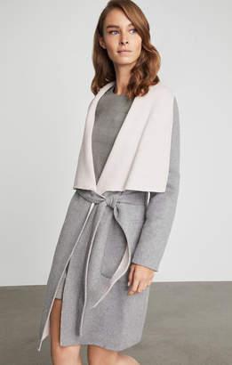 BCBGMAXAZRIA Chanel Belted Wrap Coat